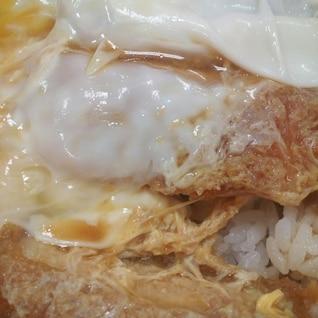 そばつゆを使ったカツ丼
