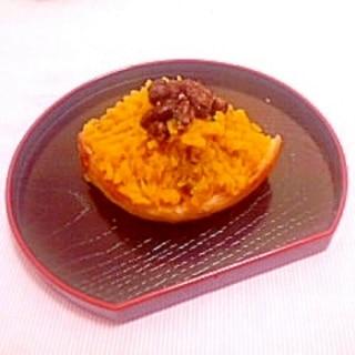 食パンで♪かぼちゃ餡のモンブラン風