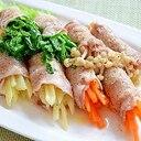 レンチンで簡単! たっぷり野菜の巻きしゃぶ