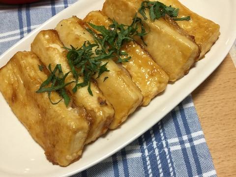 ポン酢でさっぱり♪豆腐ステーキ