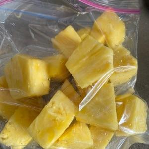 パイナップルの冷凍保存