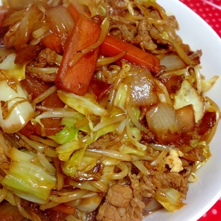 野菜たっぷり♡牛肉とキャベツのオイスター醤油炒め