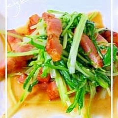 シャキシャキ★水菜のガーリック炒め