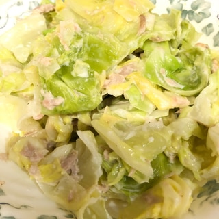 【簡単・スピード】ツナとキャベツの温野菜
