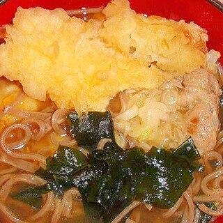冷凍食品で作れるレンチン蕎麦