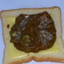 残ったカレーでカレーチーズトースト
