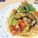 時短で作る《ツナと夏野菜たっぷりパスタ》