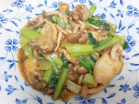 牡蠣と野菜の中華炒め++