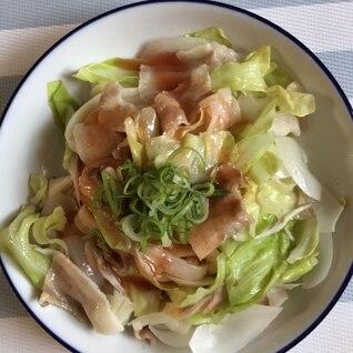 明太ぶっかけうどん~豚バラと野菜蒸しのせ~