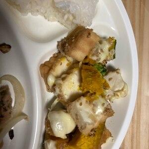 トースターで。。厚揚げとブロッコリーの味噌チーズ焼
