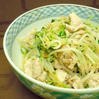 野菜たっぷり★豆苗とモヤシの豚ニラ炒め