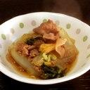 ジッと煮込むだけ「豚と白菜のすき煮」