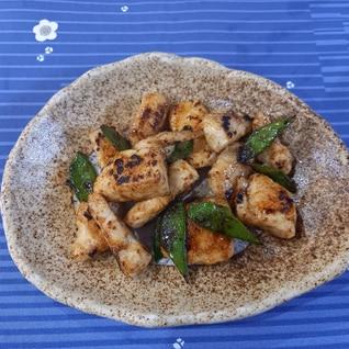 鶏胸肉のオイマヨ炒め