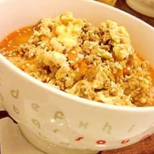 コチュジャン&味噌で*簡単クッパ風スープごはん