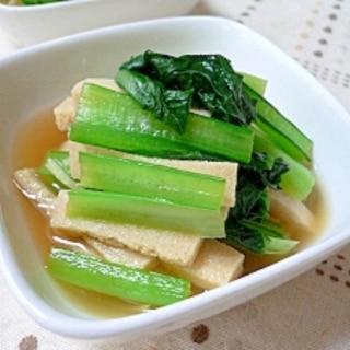 小松菜と高野豆腐の煮浸し