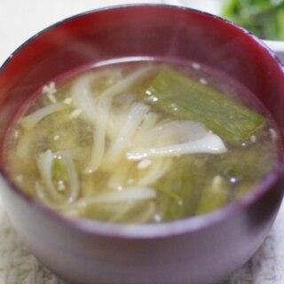葉玉ねぎのけんちん汁