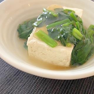 湯豆腐の青葉あんかけ