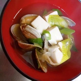 あさりと豆腐のお汁