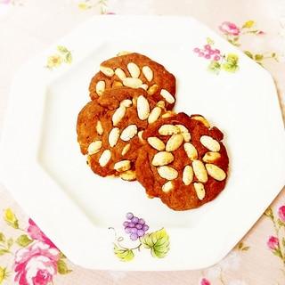 ココア風味♪玄米パフ入りヘルシークッキー