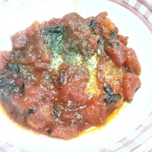 鯖のイタリア風煮込み
