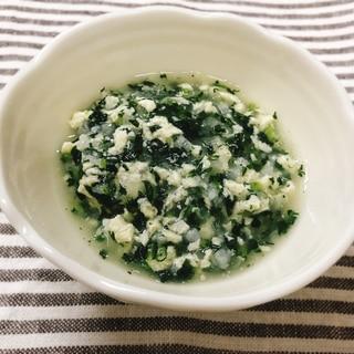 【離乳食中期】小松菜と大根と豆腐のぞうすい