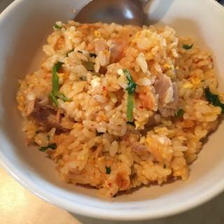ツナを使ったキムチ炒飯