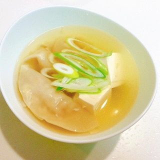 味付けコンソメだけの☆簡単スープ餃子