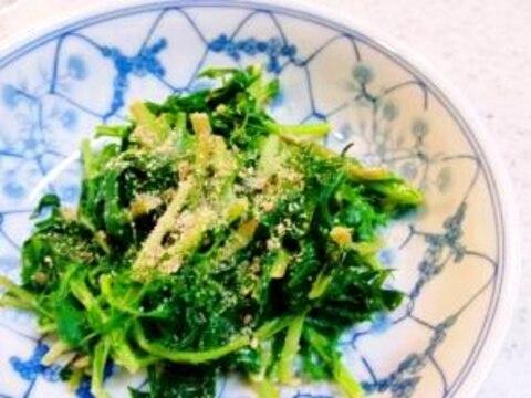 超簡単!水菜のポン酢マヨネーズあえ