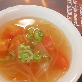 簡単!トマトとチリソースの東南アジア風スープ♪