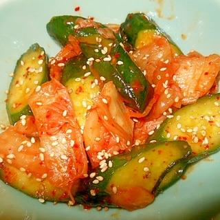 簡単小鉢~胡瓜とキムチの中華和え