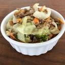 余った塩焼きそばの調味料を使ったひき肉&野菜炒め