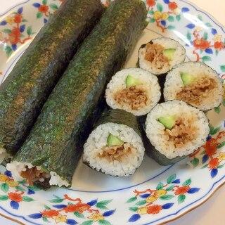 節分やお弁当にも☆牛しぐれ煮の巻き寿司