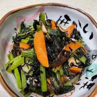 ひじきと小松菜の炒め物