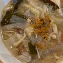 根菜とこんにゃくときのこと昆布のピリ辛汁