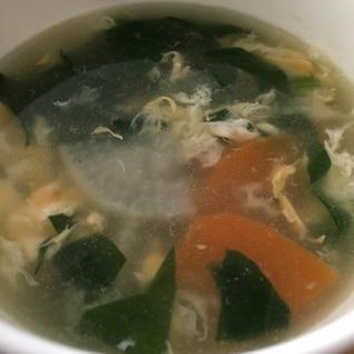 いりこ出汁が効いてる 中華スープ