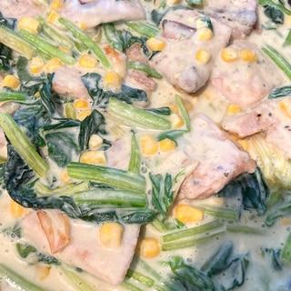 白身魚のクリームソース