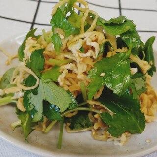 【時短】三つ葉と切り干し大根の即席中華サラダ♪