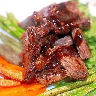 温野菜たっぷりワイン漬け柔らかステーキ