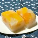 たっぷりフルーツのカルピス寒天
