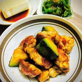 焼肉のタレでコク深!鶏とカボチャの甘辛炒め
