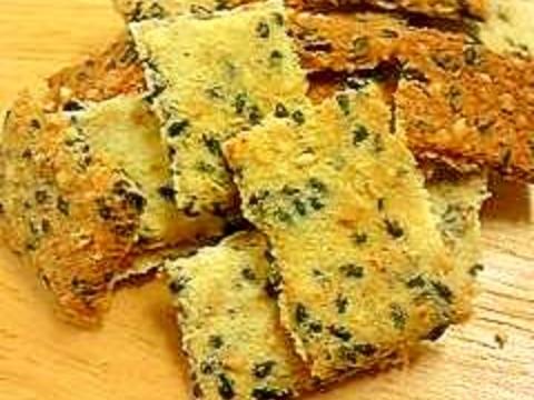 簡単胡麻のおからクッキー☆小麦粉不要☆材料4つだけ