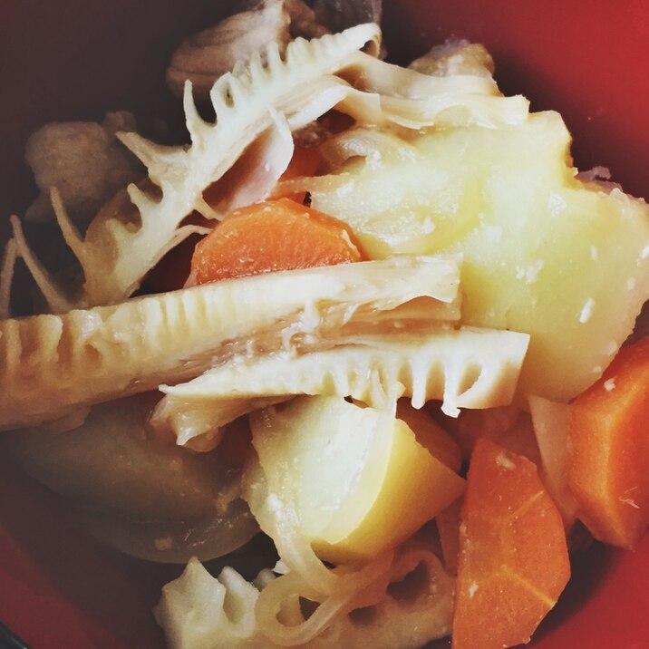 ★味噌肉じゃが(たけのこ入り)★多重構造鍋