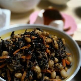 ドライパック缶を使って時短!ひじき&大豆の炒め煮