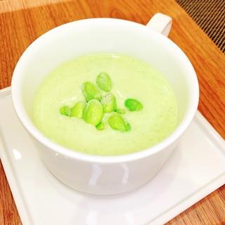 枝豆とアボカドの冷製スープ