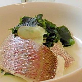 鯛とワカメの かんたん潮煮