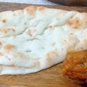 店の味バターチキンカレー&フライパンで発酵無しナン