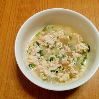【離乳食】鶏肉と冬瓜のお味噌汁