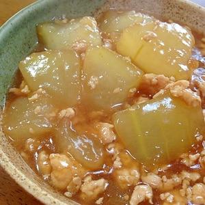 冬瓜と鶏ミンチの煮物