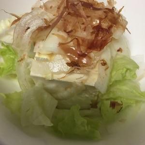 新玉ねぎの和風豆腐サラダ