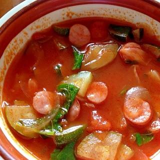 バジルが香る!トマトスープ